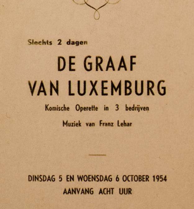 1954 – De Graaf van Luxemburg